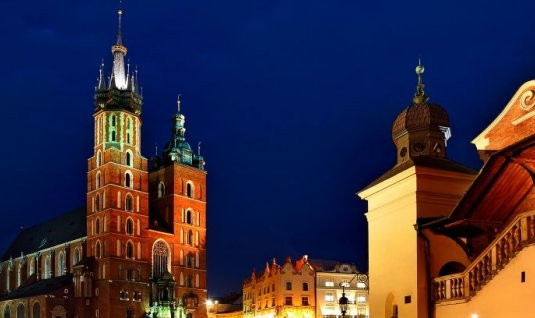 Place du marché à Cracovie